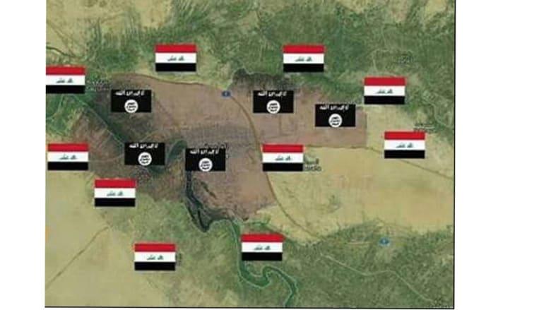 مواقع القوات كما نشرها الحشد الشعبي