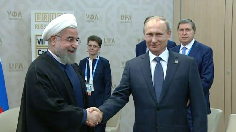 مصافحة بين بوتين وروحاني.. هل يهدد تحالف البلدين كيان الولايات المتحدة؟