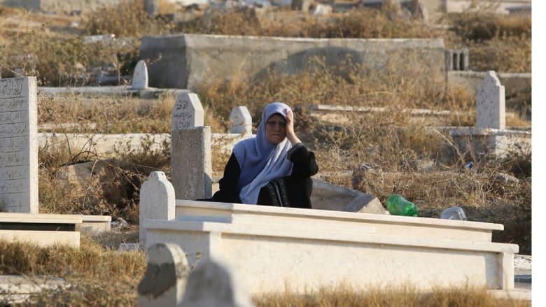 زيارة المقابر يوم العيد - غزة