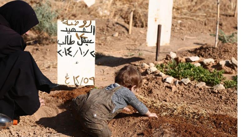 زيارة المقابر في العيد - سوريا، دوما