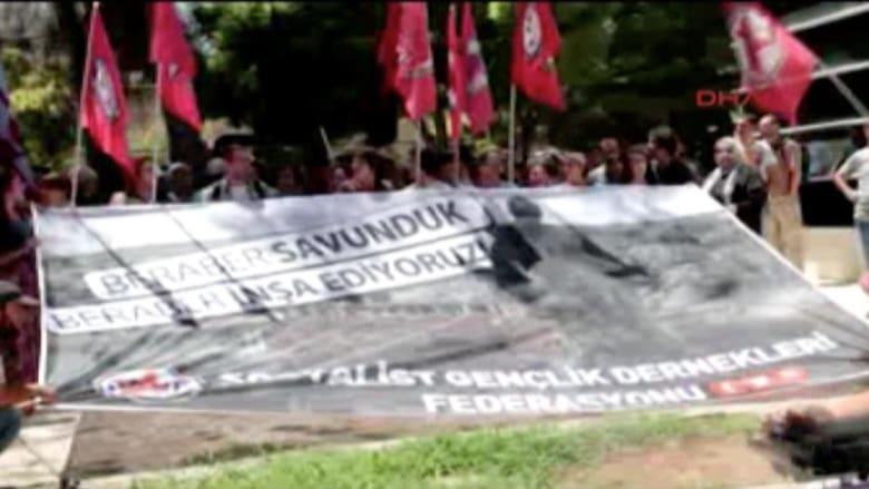 بالفيديو.. لحظة وقوع الانفجار في مدينة سوروج التركية