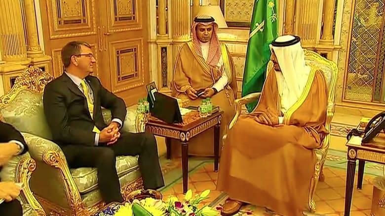 بالفيديو.. وزير الدفاع الأمريكي يلتقي الملك السعودي في جدة