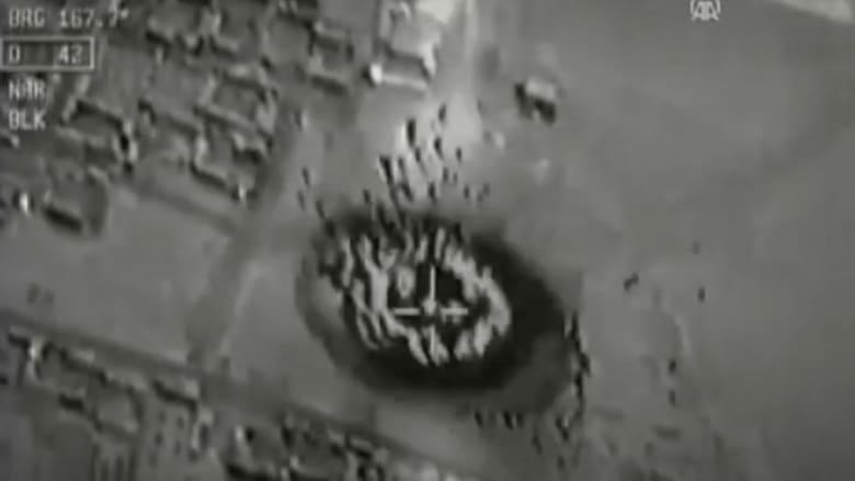 بالفيديو.. لحظة قصف الطيران التركي لمواقع داعش في سوريا