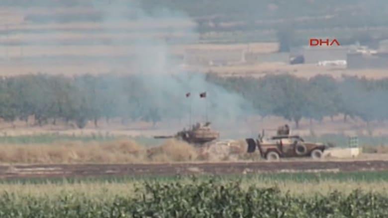 """بالفيديو.. اشتباكات الجيش التركي مع مقاتلي """"داعش"""" قرب الحدود السورية"""