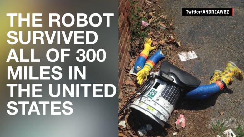 شاهد.. كيف يسافر هذا الروبوت حول العالم وكيف انتهى أمره؟