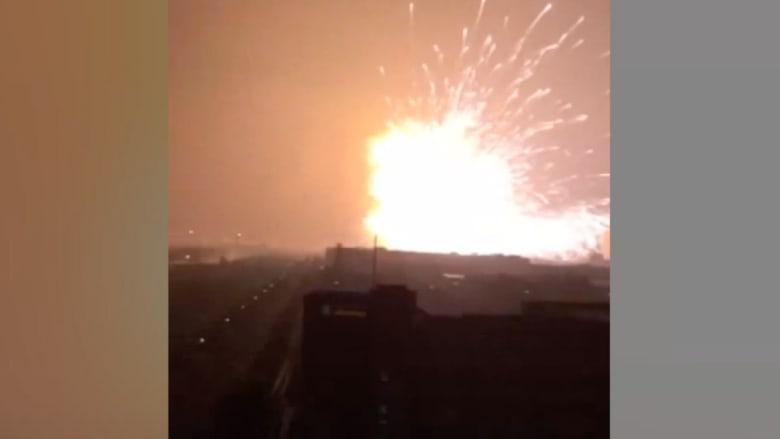 """الصين: انفجار هائل بمدينة """"تيانجين"""" شمال البلاد وأنباء عن سقوط عشرات الضحايا"""