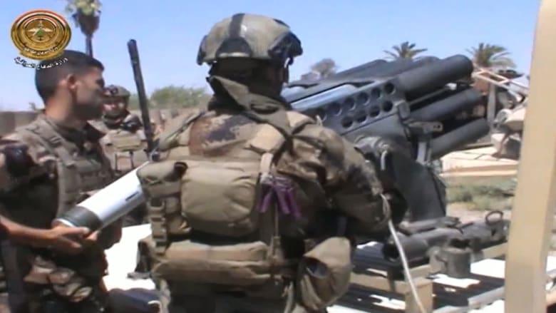 """شاهد.. قوات الأمن العراقية تستهدف مواقع داعش في """"بيجي"""""""