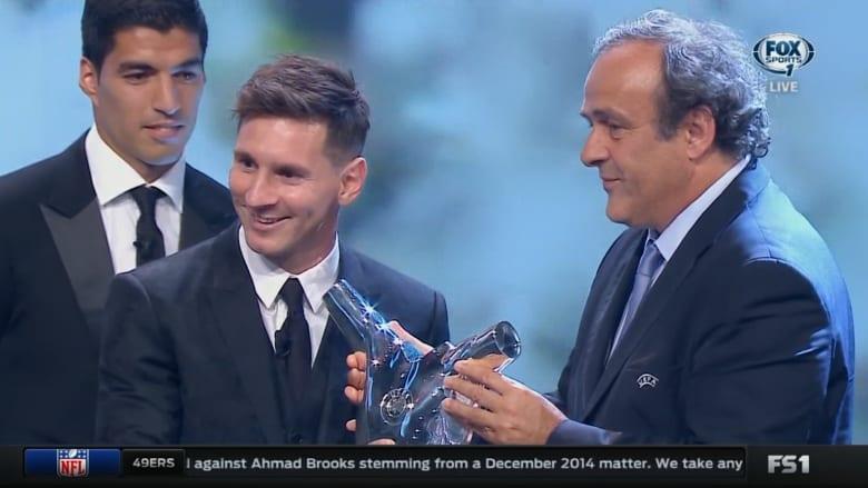 بالفيديو.. ميسي يفوز بجائزة أفضل لاعب في أوروبا