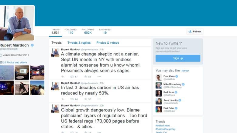 """روبرت مردوخ يتحدث عن اضطراب الأسواق المالية.. ويشكك بـ""""تغير المناخ"""""""