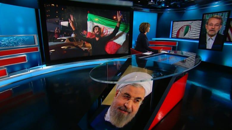لاريجاني لـ CNN: إيران منعت تقدم الإرهابيين في سوريا والعراق.. والاتفاق النووي جيد رغم بعض القصور