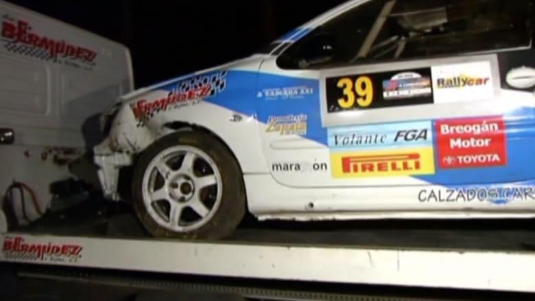 بالفيديو.. حادث مأساوي بسباق للسيارات في إسبانيا