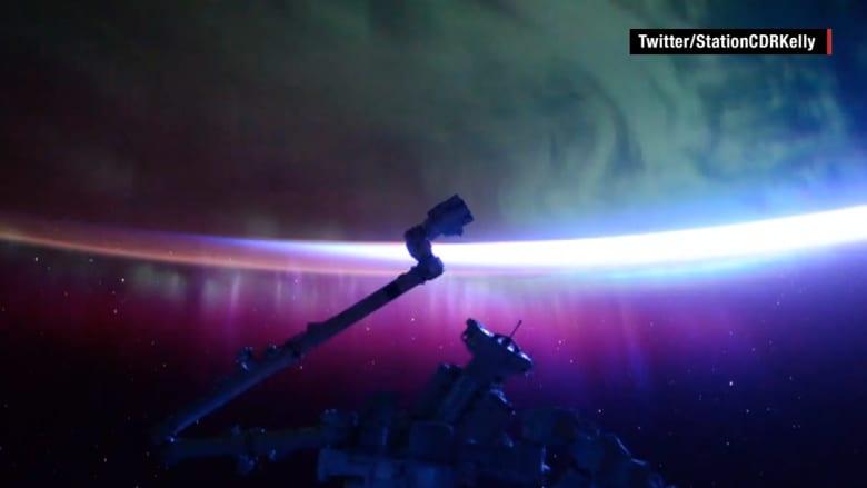 شاهد جمال ألوان الشفق القطبي الشمالي من الفضاء