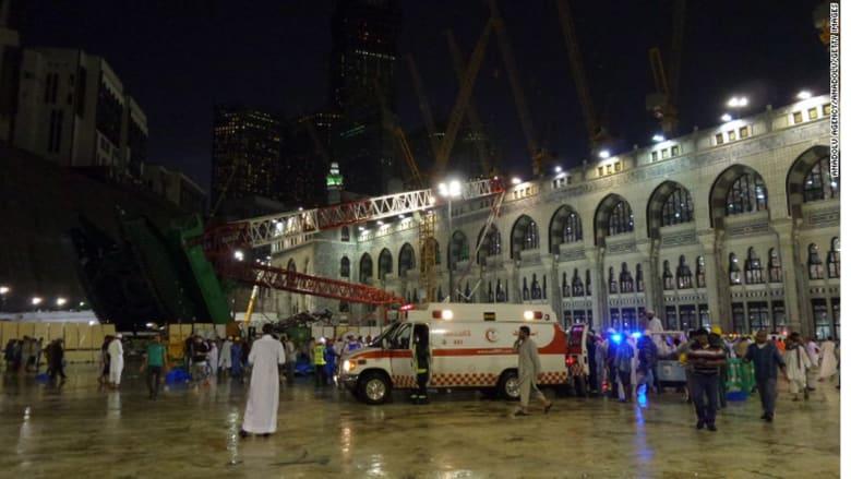 السعودية تعلن مقتل 107 وإصابة 238 إثر سقوط رافعة بالحرم المكي