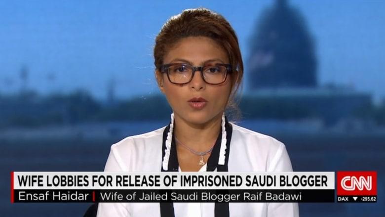 حصريا من أمريكا.. زوجة رائف بدوي المدون السعودي المسجون لـCNN: يتلقى طعاما سيئا وصحته متردية.. وأتيت لأطلب الدعم والتدخل لإطلاق سراحه