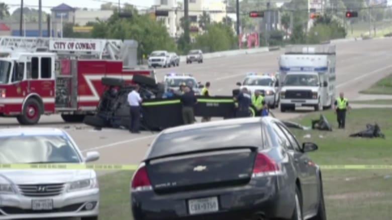 بالفيديو.. حادثمروع بأمريكا تسبب به سائق مخمور أوقع 4 قتلى