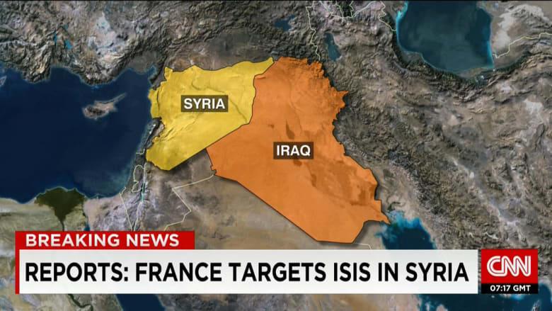 فرنسا تعلن شن أولى غاراتها ضد تنظيم داعش في سوريا