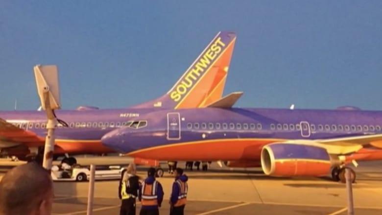 شاهد.. تصادم بين طائرتين أمريكيتين في مطار بسياتيل
