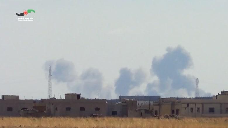 بالفيديو.. مقاتلات روسية تنفذ أولى غاراتها في سوريا