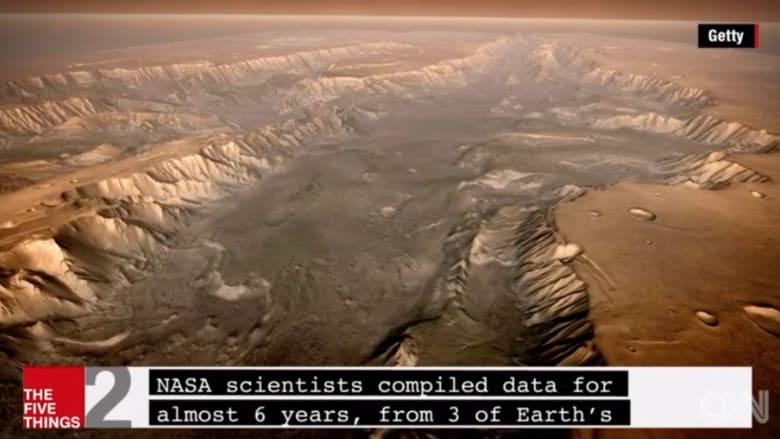 بالفيديو.. محيط تاريخي ضخم على سطح المريخ