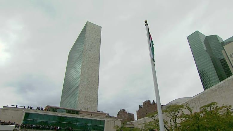 بالفيديو.. لحظة رفع العلم الفلسطيني في مقر الأمم المتحدة