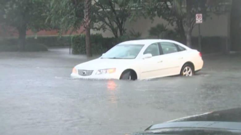 بالفيديو.. أمطار غزيرة تسبب فيضانات جارفة في ساوث كارولينا
