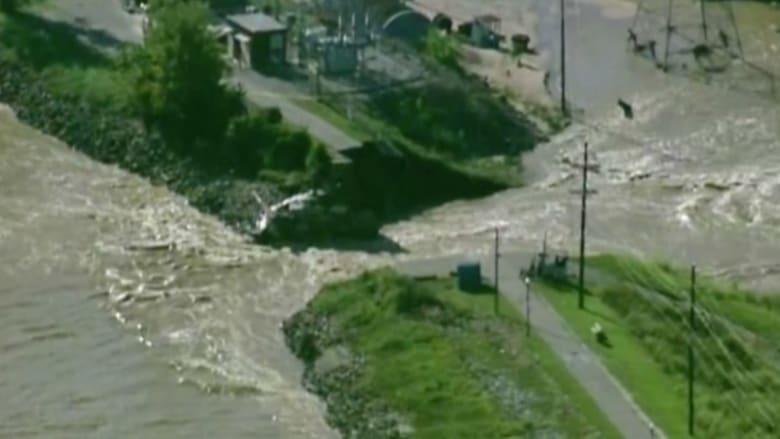 """شاهد من الجو.. المناطق التي دمرتها الفيضانات في """"ساوث كارولينا"""""""