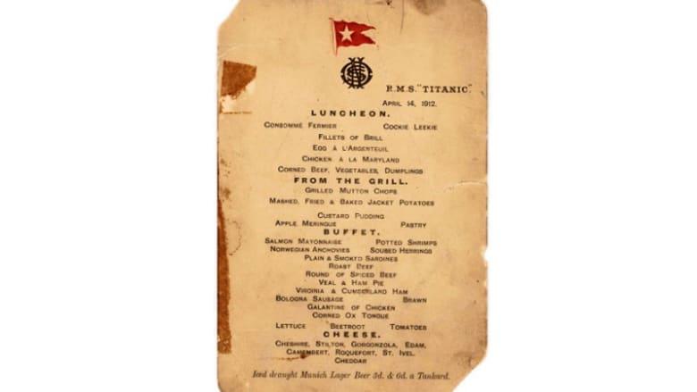 """قائمة طعام الغداء الأخير على سفينة """"تايتانيك""""..هذه أبرز أصنافها الفاخرة"""