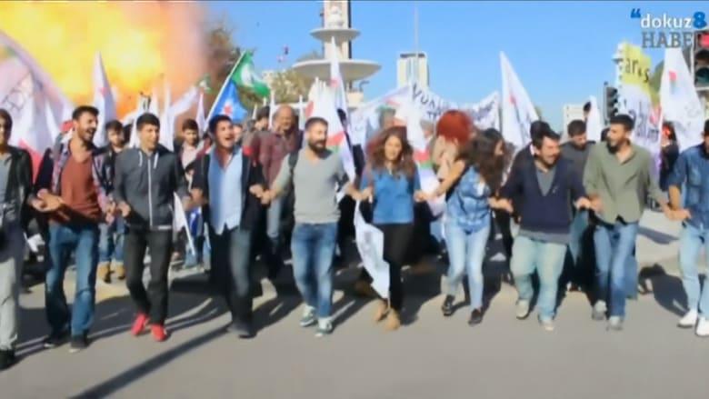 بالفيديو.. لحظة وقوع انفجار أنقرة بتركيا