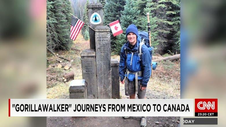 من أجل الغوريلا.. رحلة لمسافة 4300 كيلومتر سيراً على الأقدام