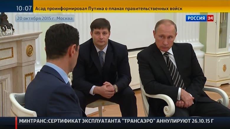 """شاهد بالفيديو: الأسد يتحدث مع بوتين مشيدا بالضربات الروسية وبـ""""حرية الشعوب"""""""