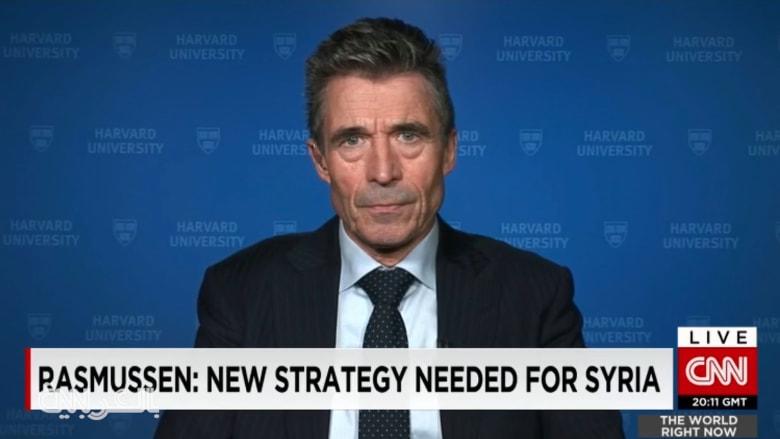 أمين عام الناتو السابق لـCNN: يجب إرسال قوات برية لسوريا ومشاركة السعودية وتركيا وإيران بالقتال ضرورية