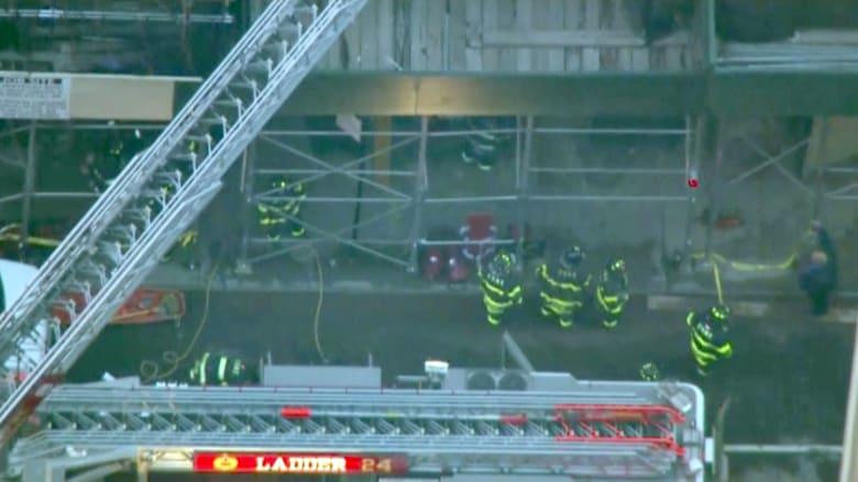 بالفيديو.. انهيار عقار من 5 طوابق في نيويورك