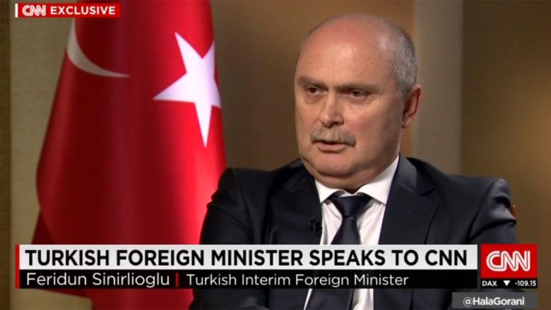 """وزير الخارجية التركي لـCNN: الأسد ذهب للخطة """"ب"""" بعد اعترافه بعدم قدرته على فرض سلطته بكامل البلاد.. وروسيا ترتكب خطأ كبيرا في سوريا"""