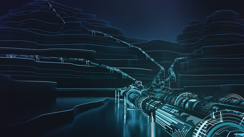 في مجال النفط والغاز، تم تطوير تطبيقات ذكية تعمل على مراقبة التجهيزات والمعدات المستخدمة في حقول النفط وتوقع حصول المشكلة حتى قبل وقوعها. إضافة إلى ذلك، توفر هذه التطبيقات الموصلة بالمعدات الثقيلة خاصية زيادة الأمان عند استخدامها.