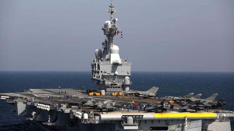 """فرنسا ترسل حاملة الطائرات """"شارل ديغول"""" للمشاركة في الحرب على """"داعش"""""""