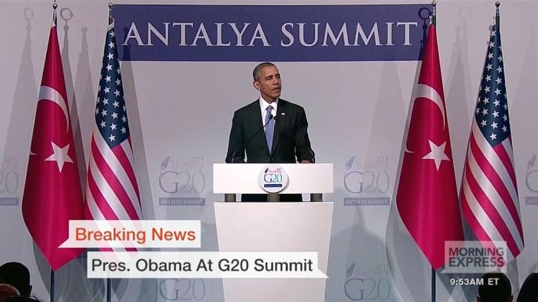 بقمة الـ20.. أوباما: إرسال عدد كبير من القوات البرية لقتال داعش خطأ.. وأردوغان: لا مستقبل لبشار بسوريا