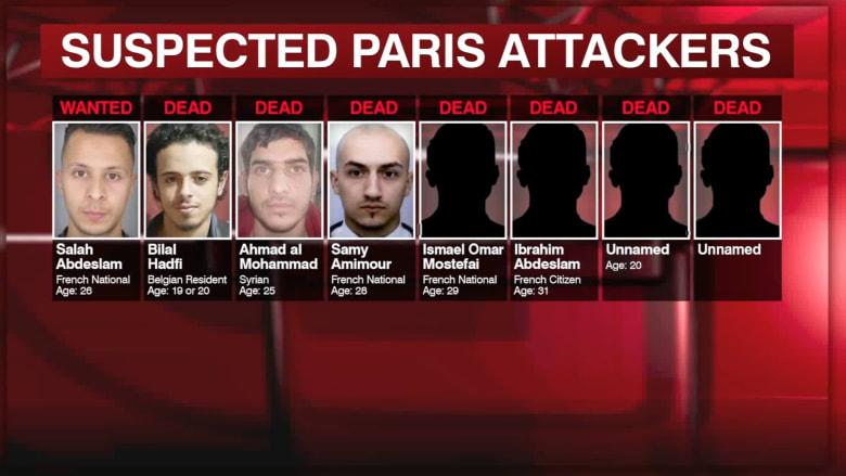 بالفيديو.. 8 مشتبهين نفذوا هجمات باريس على 3 مجموعات أحدهم مازال طليقاً