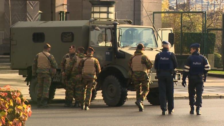 بالفيديو.. قوات الأمن تنتشر بشوارع بروكسل تحسباً لتهديدات محتملة