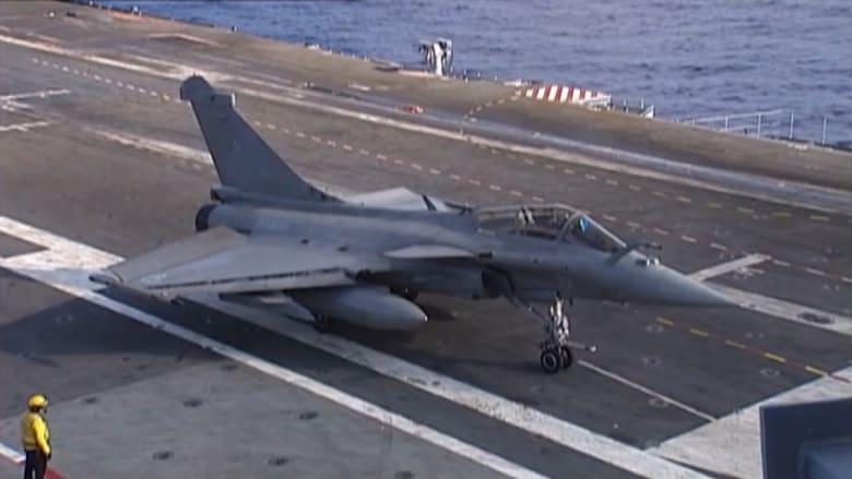 انطلاق مقاتلات فرنسية من على حاملة الطائرات شارل ديغول إلى سوريا والعراق