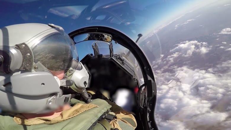 """بالفيديو.. مقاتلات فرنسية تقصف أهدافاً لـ """" داعش """" في العراق"""
