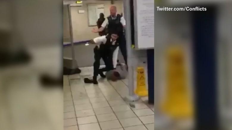 فيديو للحظة اعتقال منفذ الهجوم الإرهابي في محطة للمترو شرق لندن
