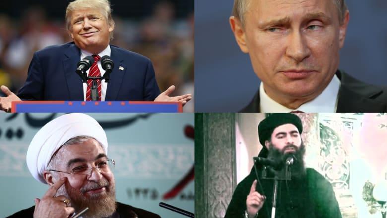 """ما الذي يجمع البغدادي وبوتين وروحاني وترامب؟.. جميعهم ضمن مرشحي مجلة """"تايم"""" لشخصية 2015"""