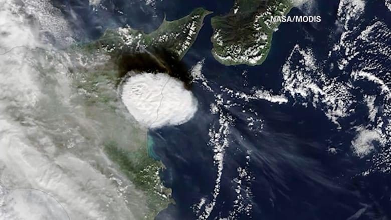 بالفيديو.. لقطات مذهلة لبركان جبل إتنا من الفضاء
