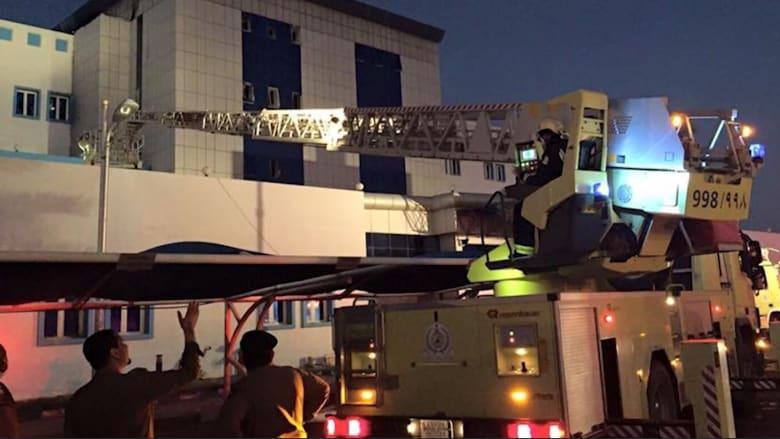 الصور الأولى لحريق مستشفى في جازان جنوب غربي السعودية