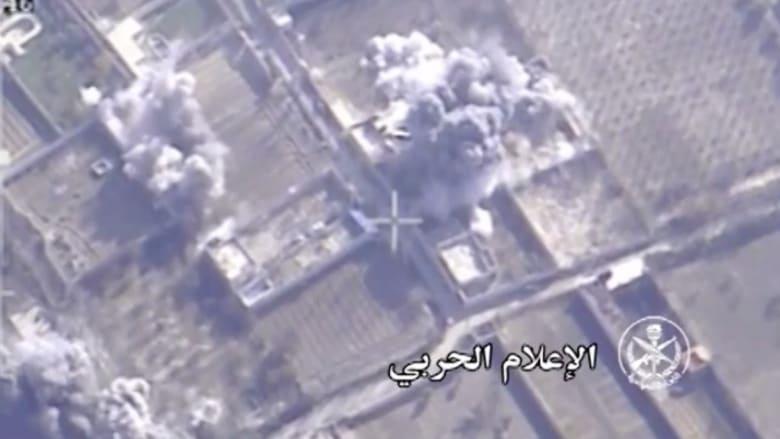 """شاهد.. لحظة استهداف قائد """"جيش الإسلام"""" في غارة جوية بسوريا"""