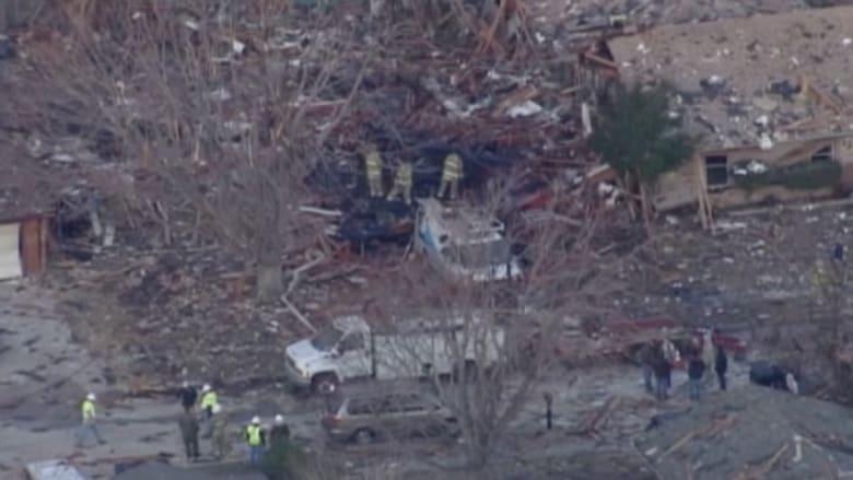 بالفيديو: إصابة ثلاثة أشخاص بانفجار منزل في أوكلاهوما