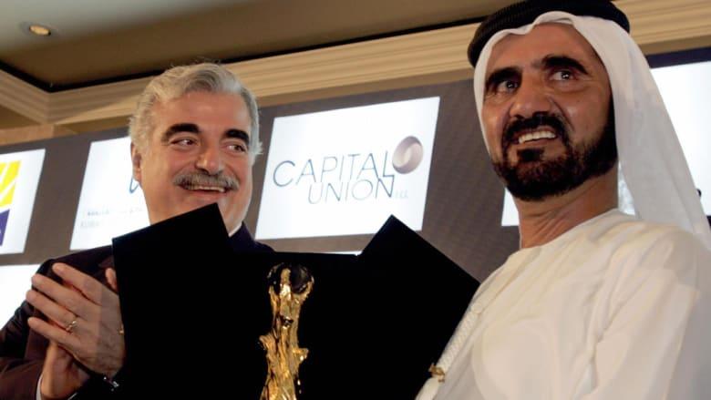الشيخ محمد بن راشد مع رئيس الوزراء اللبناني الراحل رفيق الحريري