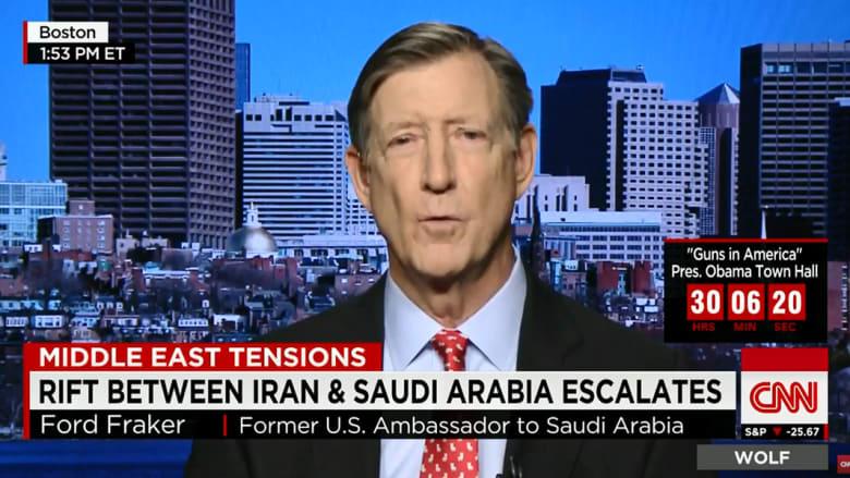 سفير أمريكا الأسبق بالسعودية لـCNN: علينا تذكر أن نمر النمر أدين وحُكم بـ2014.. وردود الأفعال على إعدامه ليست مفاجئة للرياض