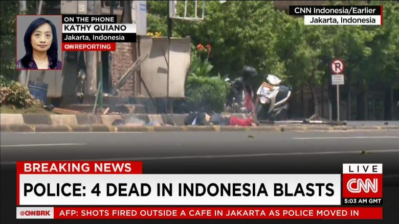 من موقع الانفجار الذي أدى حتى الآن إلى مقتل أربعة أشخاص