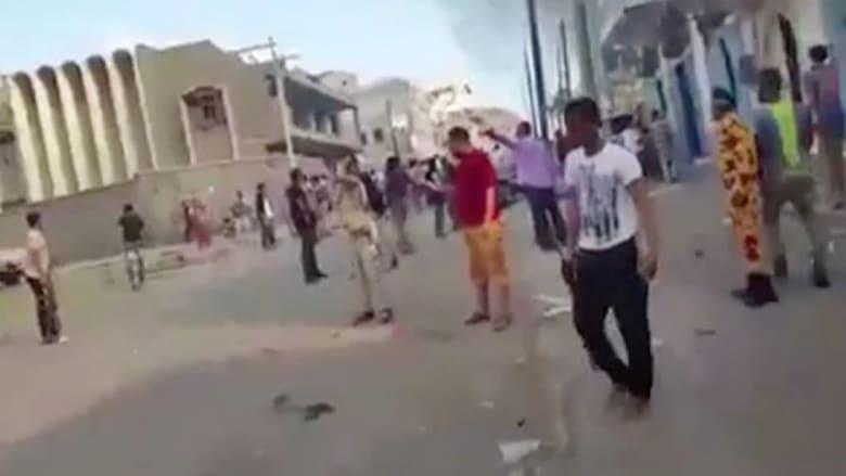 بالفيديو: تفجير انتحاري يستهدف قصر الرئيس اليمني في عدن.. ومقتل 11 من قوات الأمن